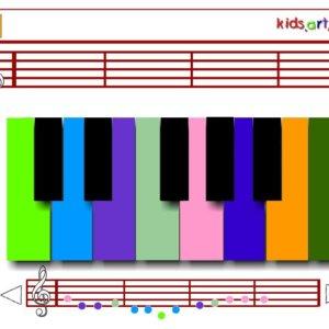 תווים לפסנתר וירטואלי