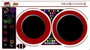יצירה לילדים | קליידוסקופ